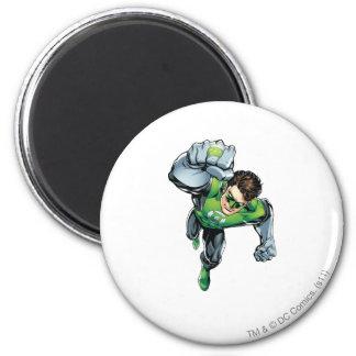 Green Lantern - Comic,  Arm Raise 6 Cm Round Magnet