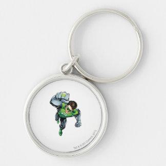 Green Lantern - Comic,  Arm Raise Silver-Colored Round Key Ring