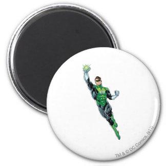 Green Lantern - Comic, Flying Up 6 Cm Round Magnet