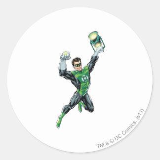 Green Lantern - Comic, with lantern Classic Round Sticker