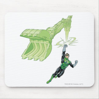 Green Lantern - Comic, with machine Mouse Mat