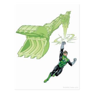 Green Lantern - Comic, with machine Postcard