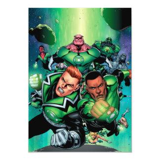Green Lantern Corps 13 Cm X 18 Cm Invitation Card