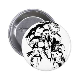 Green Lantern Corps, Black and White 6 Cm Round Badge
