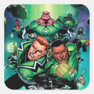 Green Lantern Corps Square Sticker