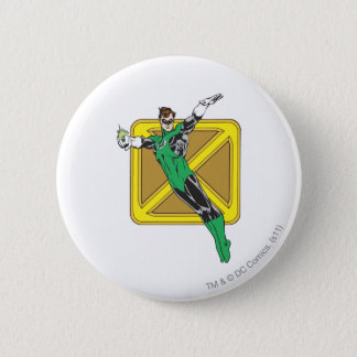 Green Lantern Extends Arms 6 Cm Round Badge