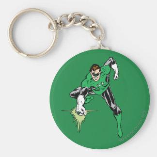 Green Lantern Fight Basic Round Button Key Ring