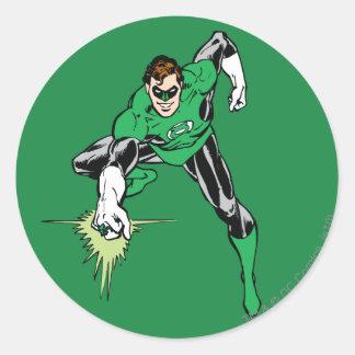 Green Lantern Fight Classic Round Sticker