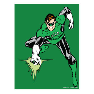 Green Lantern Fight Postcard