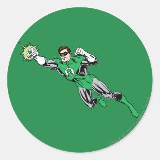 Green Lantern Fly Left 2 Classic Round Sticker
