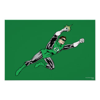 Green Lantern Fly Right Poster