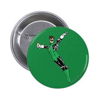 Green Lantern Fly Up 6 Cm Round Badge