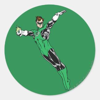 Green Lantern Fly Up Classic Round Sticker