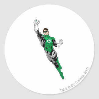 Green Lantern  - Flying Up Classic Round Sticker