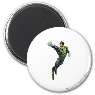 Green Lantern - Fully Rendered,  Arm out 6 Cm Round Magnet