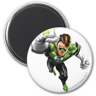 Green Lantern - Fully Rendered,  Arm Raise 6 Cm Round Magnet