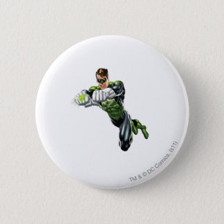 Green Lantern - Fully Rendered,  Both arms forward 6 Cm Round Badge