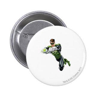 Green Lantern - Fully Rendered,  Both arms forward 6 Cm Round Badge
