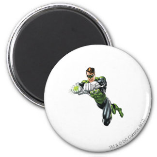 Green Lantern - Fully Rendered,  Both arms forward 6 Cm Round Magnet