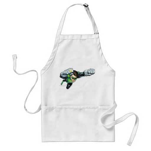 Green Lantern - Fully Rendered,  Flying Right Apron