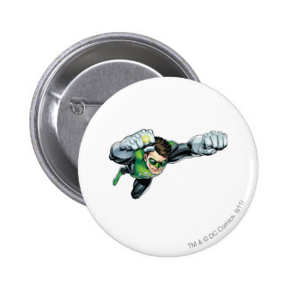 Green Lantern - Fully Rendered,  Flying Right 6 Cm Round Badge