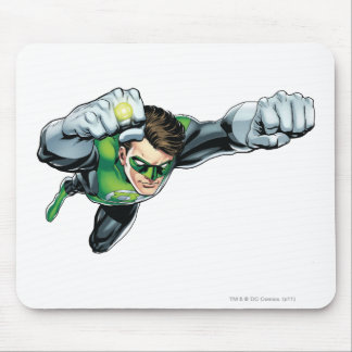 Green Lantern - Fully Rendered,  Flying Right Mouse Mat