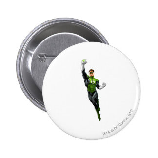 Green Lantern - Fully Rendered,  Flying Up 6 Cm Round Badge