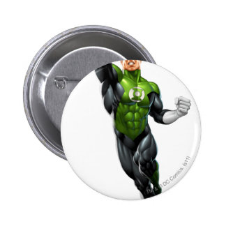 Green Lantern - Fully Rendered,  Flying Up Pinback Buttons