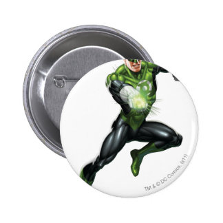 Green Lantern - Fully Rendered,  Jumping 6 Cm Round Badge