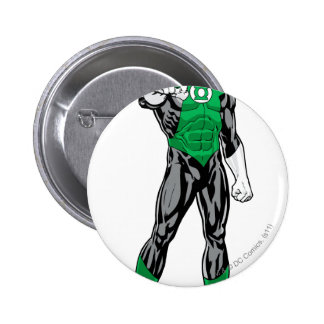 Green Lantern - Fully Rendered,  Standing 6 Cm Round Badge