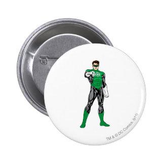 Green Lantern - Fully Rendered,  Standing 6 Cm Round Badge