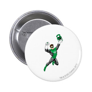 Green Lantern - Fully Rendered,  with lantern 6 Cm Round Badge