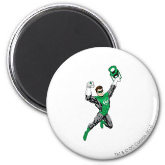 Green Lantern - Fully Rendered,  with lantern 6 Cm Round Magnet