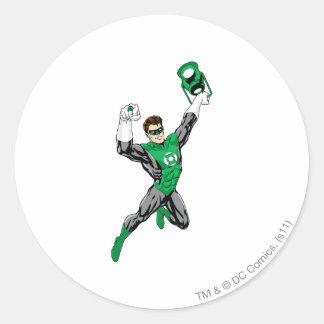 Green Lantern - Fully Rendered,  with lantern Classic Round Sticker