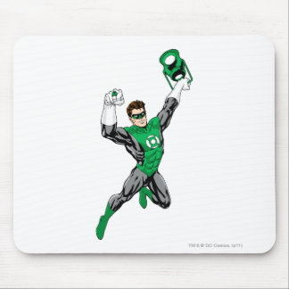 Green Lantern - Fully Rendered,  with lantern Mouse Mat