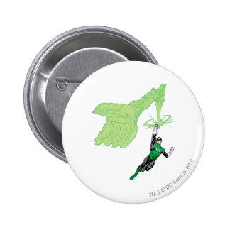 Green Lantern - Fully Rendered,  with machine 6 Cm Round Badge