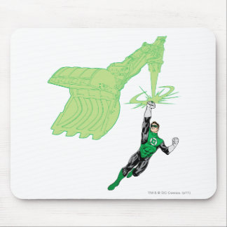Green Lantern - Fully Rendered,  with machine Mouse Mat