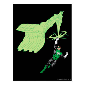 Green Lantern - Fully Rendered,  with machine Postcard