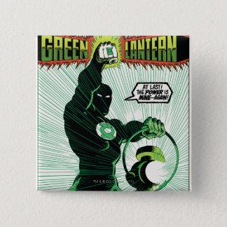 Green Lantern - Glowing Lantern 15 Cm Square Badge