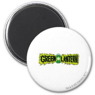 Green Lantern - Glowing Lantern 2 6 Cm Round Magnet