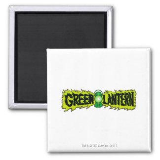 Green Lantern - Glowing Lantern 2 Square Magnet