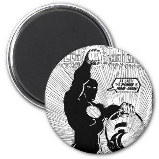 Green Lantern - Glowing Lantern, Black and White 6 Cm Round Magnet