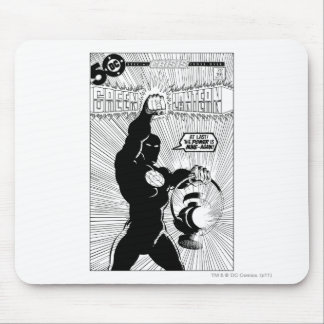 Green Lantern - Glowing Lantern, Black and White Mouse Mat
