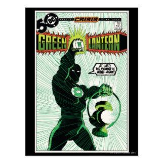 Green Lantern - Glowing Lantern Postcard