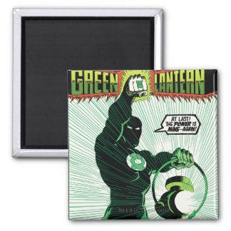 Green Lantern - Glowing Lantern Square Magnet