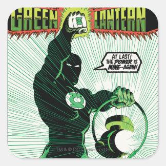 Green Lantern - Glowing Lantern Square Sticker