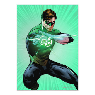 Green Lantern & Glowing Ring 13 Cm X 18 Cm Invitation Card