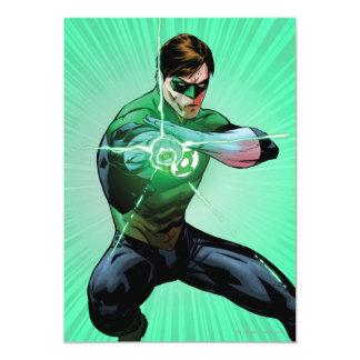 Green Lantern & Glowing Ring 13 Cm X 18 Cm Invitation Card