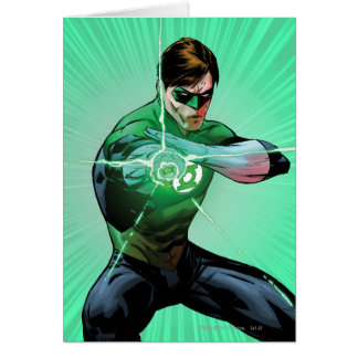 Green Lantern & Glowing Ring Greeting Card
