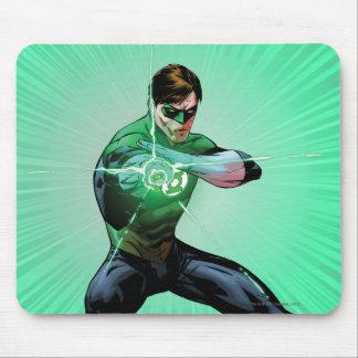 Green Lantern & Glowing Ring Mouse Mat